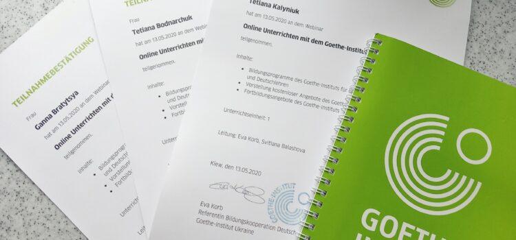 Реалізуючи співпрацю між кафедрою німецької мови  К-ПНУ імені Івана Огієнка та Goethe-Institut в Україні