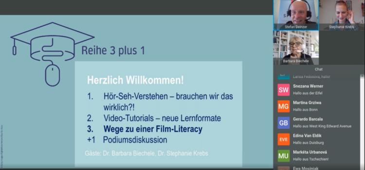 """Участь у вебінарі """"Reihe 3plus1: Wege zu einer Film-Literacy – entdeckendes Lernen mit fiktionalen Filmen"""" (доцент Калинюк Т.В.)"""